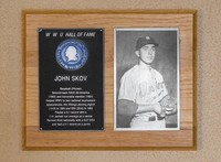 Hall of Fame Plaque: John Skov, Baseball (Pitcher), Class of 1984