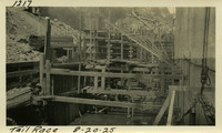 Lower Baker River dam construction 1925-08-20 Tail Race
