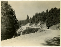 Buttressed supports of Chuckanut Drive from Samish Bay overlook