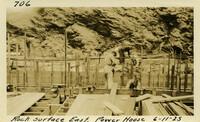 Lower Baker River dam construction 1925-06-11 Rock Surface East Power House