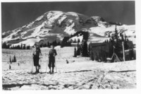 Skiiers at Mt. Rainier