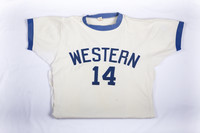 Basketball (Men's) Jersey: #14, Mike Franza, folded, 1973