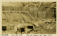 Lower Baker River dam construction 1925-02-13 Top of Forms at Elev.197.3