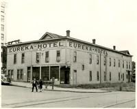 """Eureka Hotel"" on corner of Chestnut Street and Railroad Avenue, Bellingham, WA"