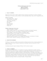 WWU Board of Trustees Minutes: 2017-04-21