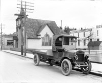 Flatbed GMC truck with