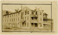 Three-story apartment building