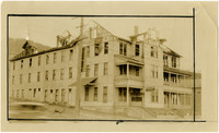 Three-story apartment building