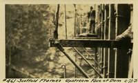 Lower Baker River dam construction 1925-04-23 Scaffold Frames Upstream Face of Dam
