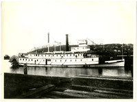 """State of Washington,"" a 175 foot stern-wheeler steamboat"