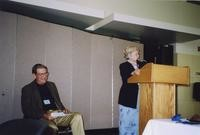 2007 Reunion--Curt Smith with WWU President Karen Morse at Reception