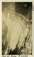 Lower Baker River dam construction 1925-09-23 Top of Dam