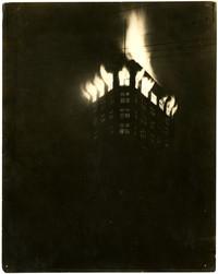 Fire consumes top floor of triangular Bellingham Bay Furniture building, Bellingham, WA