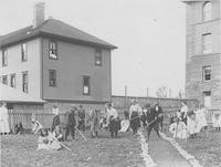 1909 Training School Students Gardening