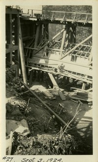 Lower Baker River dam construction 1924-09-03 Diversion structure