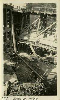 Lower Baker River dam construction 1924-09-03 Diversion structure