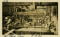 Lower Baker River dam construction 1925-08-14 Tail Race Floor