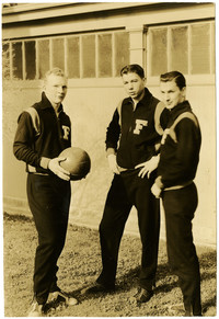 Three players from Fairhaven HIgh School boys basketball team