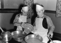 1943 Boys Cooking