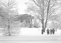 1935 Edens Hall in Snow