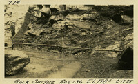 Lower Baker River dam construction 1925-06-17 Rock Surface Run 136 El.2785