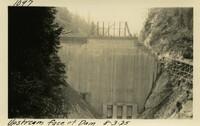 Lower Baker River dam construction 1925-08-03 Upstream Face of Dam