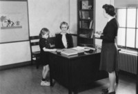 1943 Katherine Casanova In Campus School First Grade Office