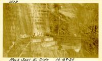 Lower Baker River dam construction 1925-10-29 Rock Seal E. Side