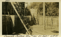 Lower Baker River dam construction 1925-06-27 Concrete Surface Run #146 El.3235