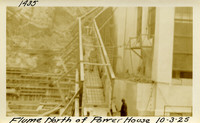 Lower Baker River dam construction 1925-10-03 Flume North of Power House