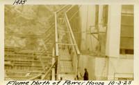 Lower Baker River dam construction 1925-10-03 Flume North of Power House