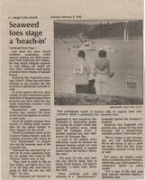 """Seaweed foes stage a """"beach-in""""; Continuation from Page 1"""