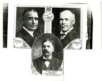 Executives of Bloedel-Donovan Lumber Mill: J.H. Bloedel, Peter Larson, J.J. Donovan (copies from book)