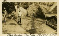 Lower Baker River dam construction 1925-06-15 Rock Surface Run #134 El.2695