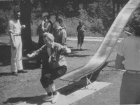 1947 Campus Day: Students on Slide