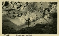 Lower Baker River dam construction 1924-10-11 Base features