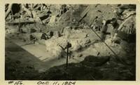 Lower Baker River dam construction 1924-10-11 Base features