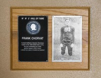 Hall of Fame Plaque: Frank Chorvat, Football (Halfback), Baseball (Shortstop), Class of 1980