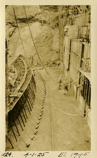 Lower Baker River dam construction 1925-04-01 El. 194.5