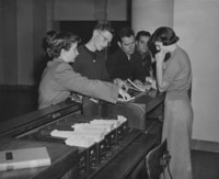 1950 Library: Loan Desk