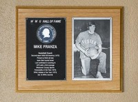 Hall of Fame Plaque: Mike Franza, Men's Basketball (Guard), Class of 1979
