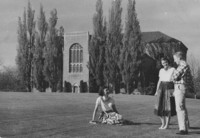 1951 Students on Southside of Library