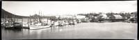 Petersburg (Alaska) marina with many small fishing boats tied to the dock