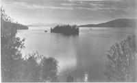 View toward Chuckanut Island in Chuckanut Bay with Lummi Island to the right