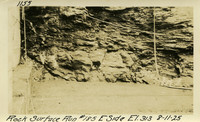 Lower Baker River dam construction 1925-08-11 Rock Surface Run #185 E. Side El.313