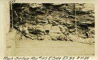 Lower Baker River dam construction 1925-08-11 Rock Surface Run #185 E. Side El.313