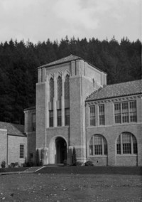 1943 Campus School Building, Main Entrance Tower