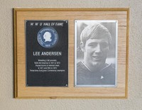 Hall of Fame Plaque: Lee Anderson, Wrestling (158 lbs.), Class of 1982