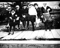 Women at the YWCA cottage on Lummi Island