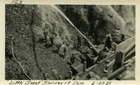 Lower Baker River dam construction 1925-06-28 Little Giant Sluicing at Dam
